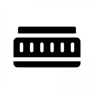 パンケーキレンズの白黒シルエットイラスト02