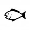 魚の白黒シルエットイラスト04