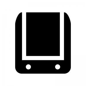 ランドセルの白黒シルエットイラスト03