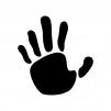 手形の白黒シルエットイラスト