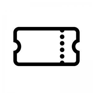 チケットの白黒シルエットイラスト04