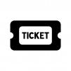チケットの白黒シルエットイラスト05
