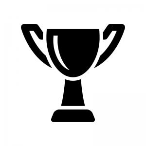 優勝カップトロフィーのシルエット03 無料のaipng白黒シルエット