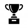 優勝カップ・トロフィーの白黒シルエットイラスト05