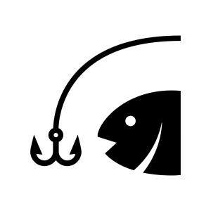 魚釣りのシルエット 無料のaipng白黒シルエットイラスト