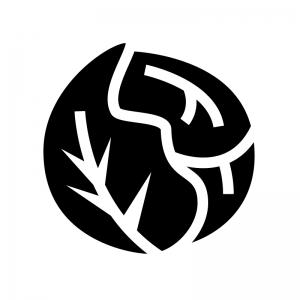 キャベツの白黒シルエットイラスト