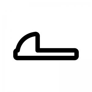 和式トイレの白黒シルエットイラスト02