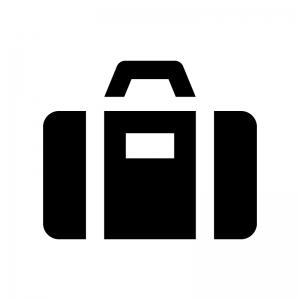 スーツケースの白黒シルエットイラスト
