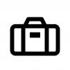 スーツケースの白黒シルエットイラスト03