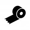 ガムテープの白黒シルエットイラスト03