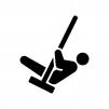 ブランコで遊ぶ人の白黒シルエットイラスト02