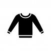 服・トレーナーの白黒シルエットイラスト