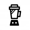 ミキサー・ジューサーの白黒シルエットイラスト03