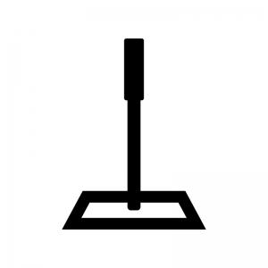 フローリングモップの白黒シルエットイラスト02