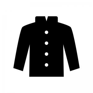 学ラン 学生服のシルエット 無料のai Png白黒シルエットイラスト