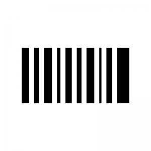 バーコード風の白黒シルエットイラスト02