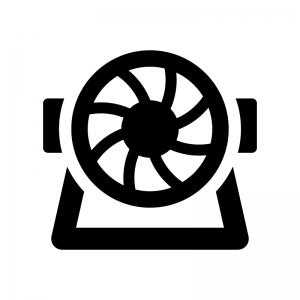 サーキュレーターの白黒シルエットイラスト