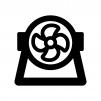 サーキュレーターの白黒シルエットイラスト02