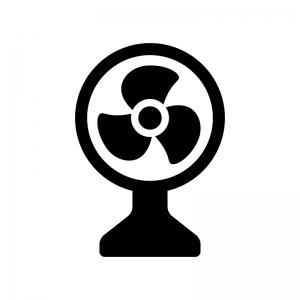 扇風機のシルエット 無料のaipng白黒シルエットイラスト