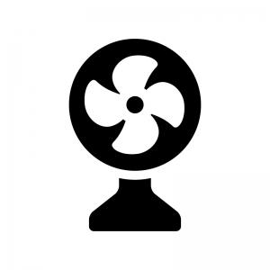 扇風機のシルエット02 無料のaipng白黒シルエットイラスト