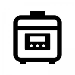 炊飯器・電子ジャーの白黒シルエットイラスト