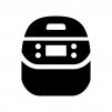 炊飯器・電子ジャーの白黒シルエットイラスト02