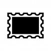 切手の白黒シルエットイラスト03