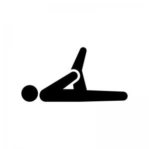 足のストレッチのシルエット 無料のaipng白黒シルエットイラスト