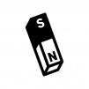 マグネット・棒磁石の白黒シルエットイラスト