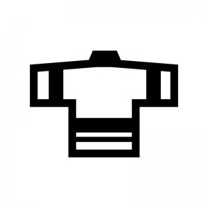 はっぴ(法被)の白黒シルエットイラスト02