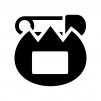 チューリップの名札の白黒シルエットイラスト