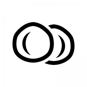 マカダミアナッツの白黒シルエットイラスト02