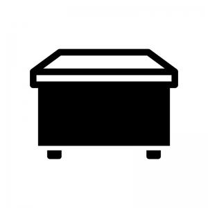 事務机・オフィスデスクの白黒シルエットイラスト