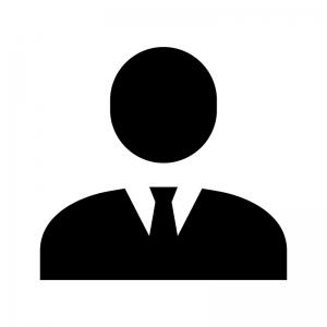 サラリーマンのシルエット04 無料のaipng白黒シルエットイラスト