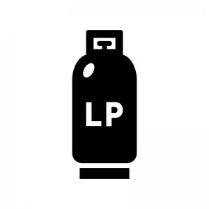 プロパンガス・LPガスの白黒シルエットイラスト02
