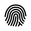 指紋の白黒シルエットイラスト02