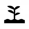 植物の芽の白黒シルエットイラスト06