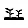 植物の芽の白黒シルエットイラスト07