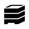 重箱の白黒シルエットイラスト