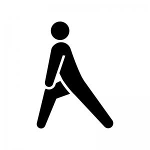 アキレス腱のストレッチのシルエット 無料のaipng白黒シルエットイラスト