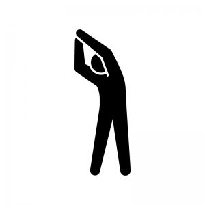 背伸びするストレッチのシルエット 無料のaipng白黒シルエットイラスト