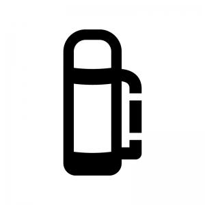 水筒・ポットの白黒シルエットイラスト02