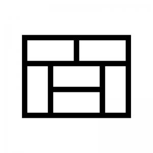 畳(6畳)の白黒シルエットイラスト