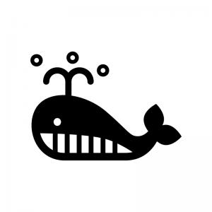 クジラのシルエット02 無料のaipng白黒シルエットイラスト