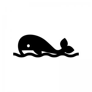 泳いでいるクジラのシルエット 無料のaipng白黒シルエットイラスト