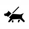 犬の白黒シルエットイラスト