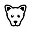 犬の白黒シルエットイラスト04
