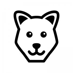 犬の白黒シルエットイラスト05