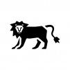 ライオンの白黒シルエットイラスト04