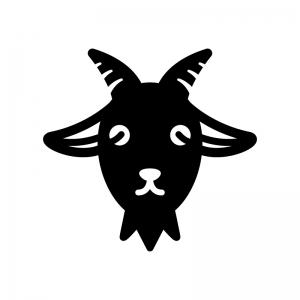 ヤギのシルエット02 無料のaipng白黒シルエットイラスト